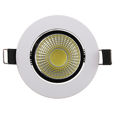 Giá bán Dimmable 6W 9W 12W 15W COB LED Downlight Kit Fixture Recessed Ceiling Light Bulb Cool White (Intl)