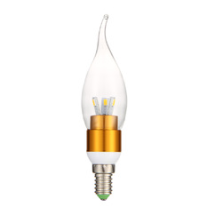 Giá bán WarmWhite LED lighting 3W wax tail tip global E14 screw Gold (Intl)