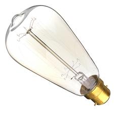 Giá bán 220V 60W Vintage Antique Edison Style Carbon Filamnet Clear Cage-B22 Glass Bulb (Intl)