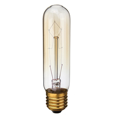 Giá bán 220V 60W Vintage Antique Edison Style Carbon Filamnet Clear Glass Bulb T10-E27 (Intl)
