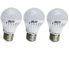 Giá bán Bộ 3 Bóng đèn Unilife LED A50/3W (Trắng)