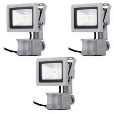 Giá bán Bộ 3 đèn pha LED cảm ứng chống trộm Rinos RNPA610 -10w