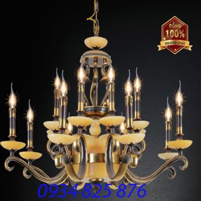 Đèn Chùm Đồng Đá HF1095-16