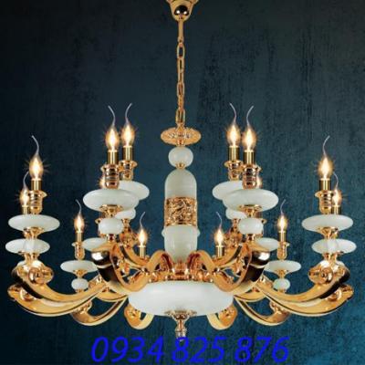 Đèn Chùm Đồng Đá HF1162-15