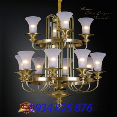 Đèn Chùm Đồng Đá HF6095-12