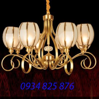 Đèn Chùm Đồng Đá HF9009-8