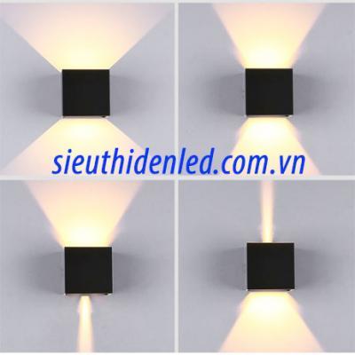 Đèn gắn tường led ngoài trời vuông