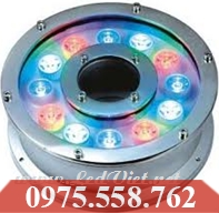 Đèn LED Âm Nước 12W Đổi Màu