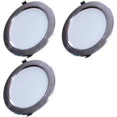 Giá bán Đèn LED âm trần tán quang tiết kiệm điện 9W bộ 3 cái (vàng ấm)