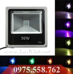 Đèn LED Pha Đổi Màu 50W