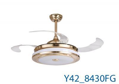 Đèn Quạt Trần Pha Lê-TH8430