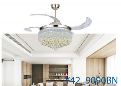 Đèn Quạt Trần Pha Lê-TH9090
