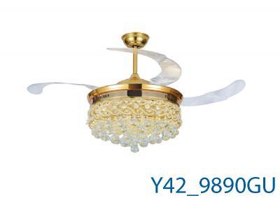 Đèn Quạt Trần Pha Lê-TH9890