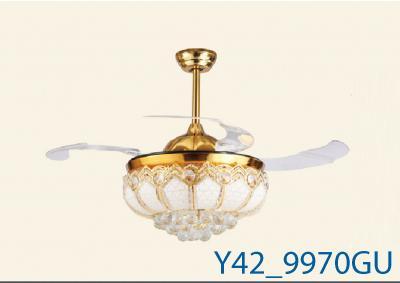 Đèn Quạt Trần Pha Lê-TH9970