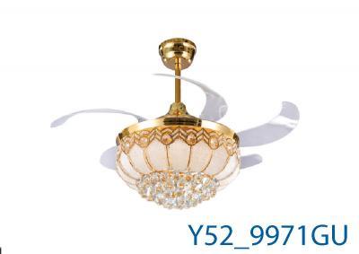 Đèn Quạt Trần Pha Lê-TH9971