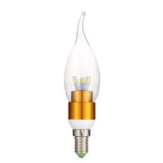 Giá bán WarmWhite LED lighting 3W wax tail tip global E14 screw Gold (Intl)