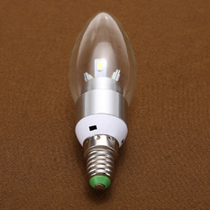 Giá bán white LED lighting 3W wax candle bulb global E14 screw Silver (Intl)